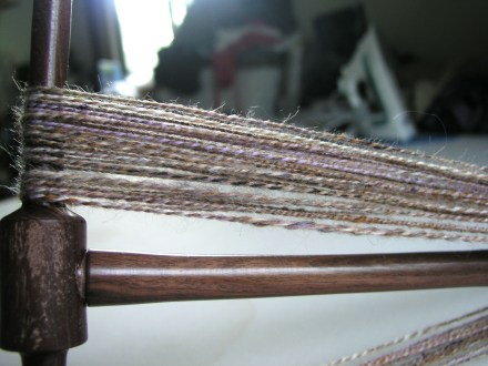Brown Mix Spinning Yarn