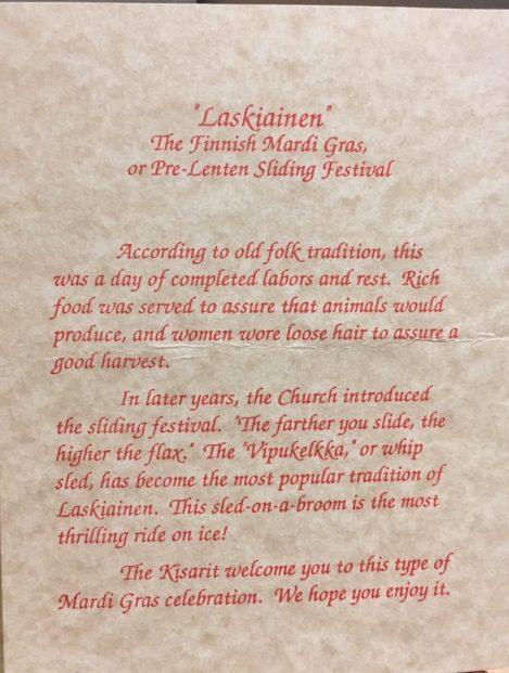 1990 Program Sledding info