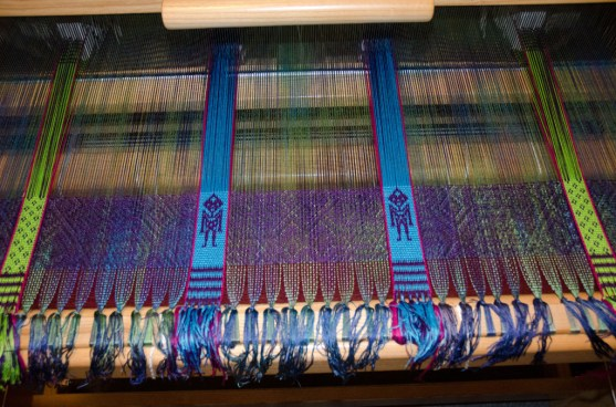 """Ocean Voyager"" on the loom"