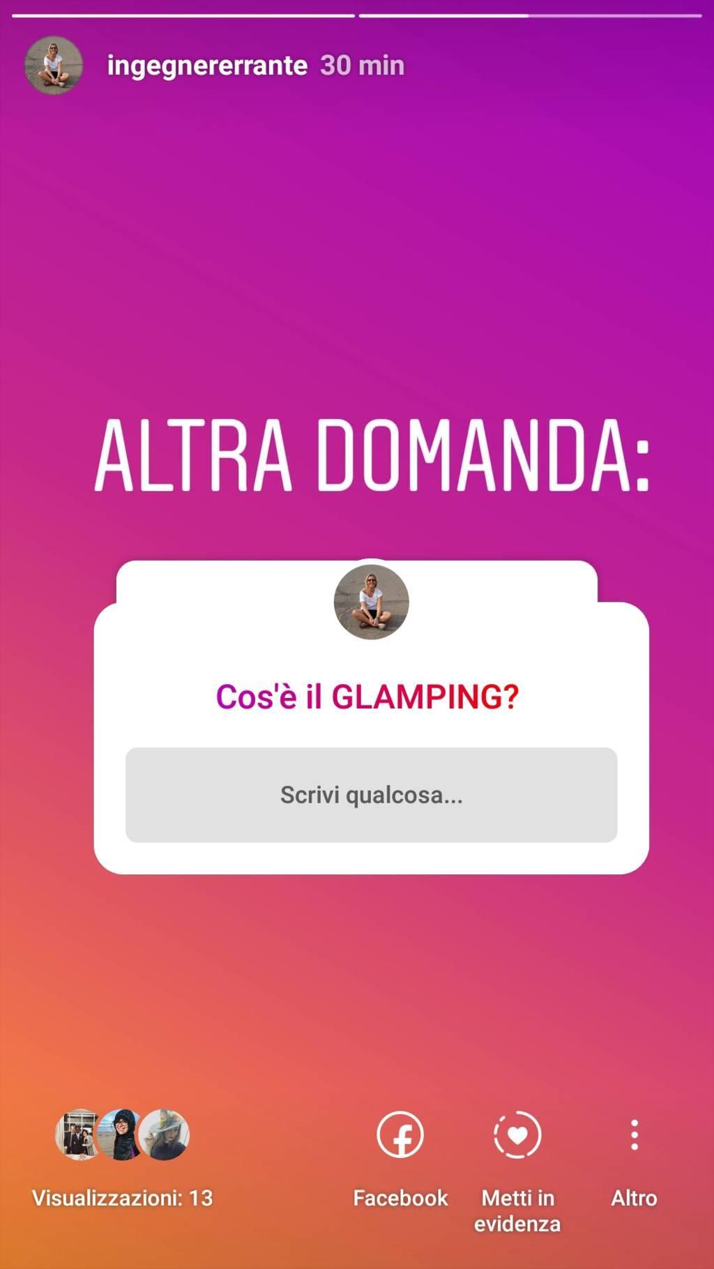 domanda cos'è il Glamping