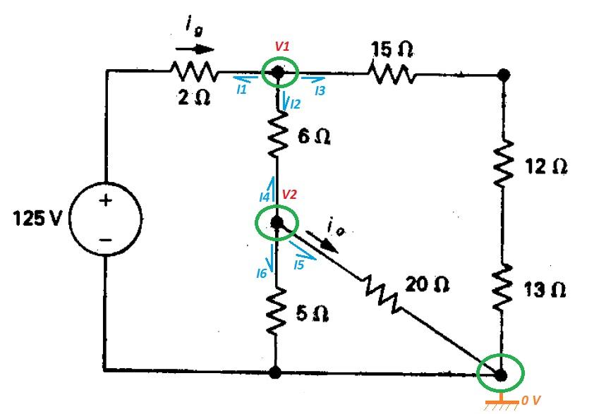 Leyes de Kirchhoff y método de mallas. Resolución de circuitos eléctricos (5/6)