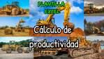 Cálculo de productividad de las maquinarias pesadas
