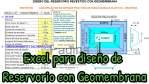 EXCEL PARA DISEÑO DE RESERVORIO CON GEOMEMBRANA