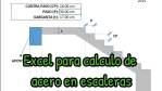 EXCEL PARA CALCULO DE ACERO EN ESCALERAS DE CONCRETO ARMADO