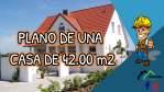 Plano de una casa pequeña en sólo 42 m2 con una  fachada moderna
