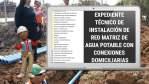EXPEDIENTE TÉCNICO DE INSTALACIÓN DE RED MATRIZ DE AGUA POTABLE CON CONEXIONES DOMICILIARIAS