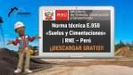 Norma técnica E.050 «Suelos y Cimentaciones» | RNE – Perú