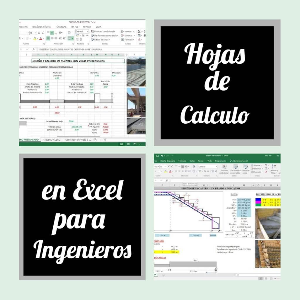 hojas de calculo para ingenieria