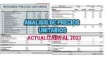 Análisis de Precios Unitarios en Construcción – Actualización al 2021