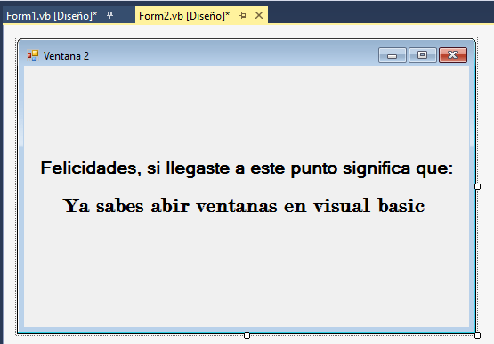 Ventanas en Visual Basic 5