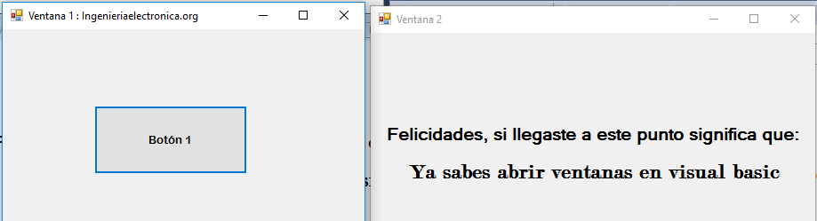Ventanas en Visual Basic 7