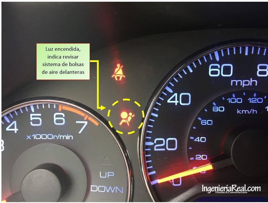 Apagar luz de tablero bolsa de aire (SRS) en Honda Civic