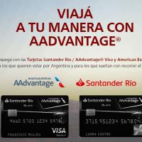 Sumá Millas AAdvantage con las Tarjetas de Santander Río Bonificadas