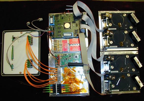 Vierfachpolychromator zur spektralen Auswertung faseroptischer Sensoren