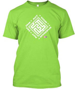 Aut Viam Inveniam Aut Faciam wht T-shirt with logo and QR 2