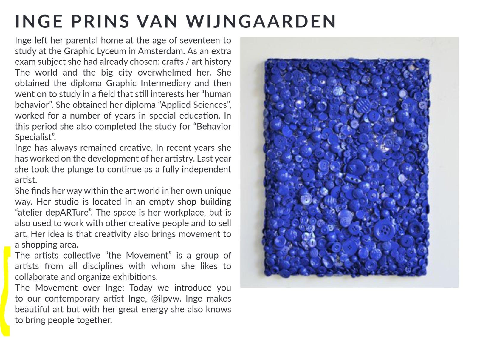 kunstenaar Inge Prins van Wijngaarden exposeert in Londen