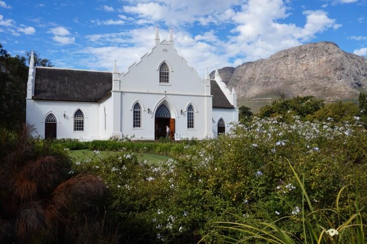 Franschhoek church in Cape Dutch style