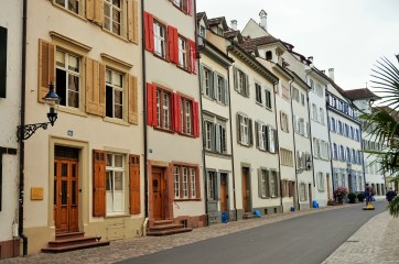 Houses in Basel near the Munsterplatz