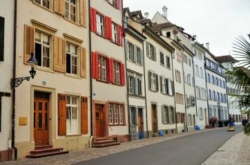 Houses in Basel near the Munsterplatz