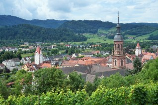 View of Gengenbach from the vineyards above