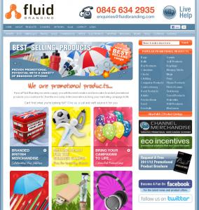 Fluid Branding Website - May 2012