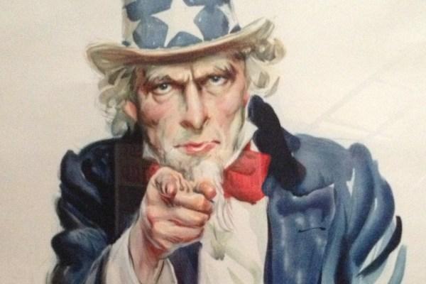 Uncle Sam poster afiş I Want You ordu asker savaş ABD Amca