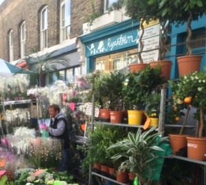 Doğu Londra Columbia Flower Market çiçek pazarı Bethnal Gren