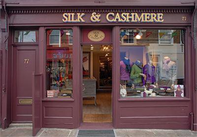 Silk and Cashmere'in Londra Notting Hill'deki mağazası...