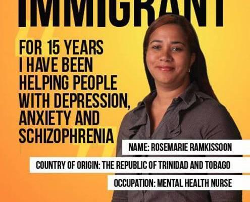 Immigrant poster 1 göçmen mülteci kampanya yabancı düşmanlığı afiş