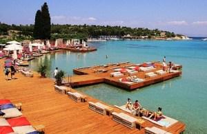 Sole Mare Beach Club deniz güneş kum kumsal plaj sahil mavi Kafe Pi Ayayorgi Koyu Aya Yorgi Çeşme İzmir