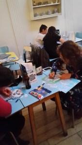 Drink Shop Do büyükler için boyama kitabı renk kalem boya sanat resim etkinlik atölye workshop