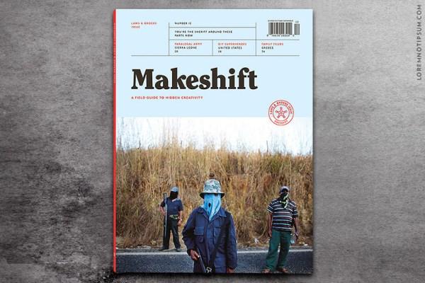 Makeshift dergi kapağı 12. sayı 12 kapak bağımsız