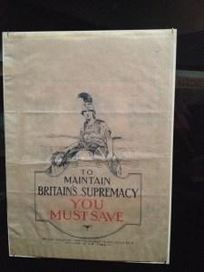Propaganda Britain's Supremacy sergi British Library eski tarih tarihi İngiltere Birleşik Krallık Büyük Britanya para tasarruf nostalji nostaljik