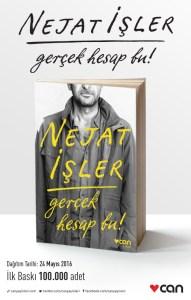 Nejat İşler kitap Gerçek Hesap Bu! Can Yayınları kapak oyuncu tiyatrocu aktör kapağı
