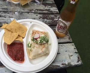 Burrito Cafe Pacifico Sol beer