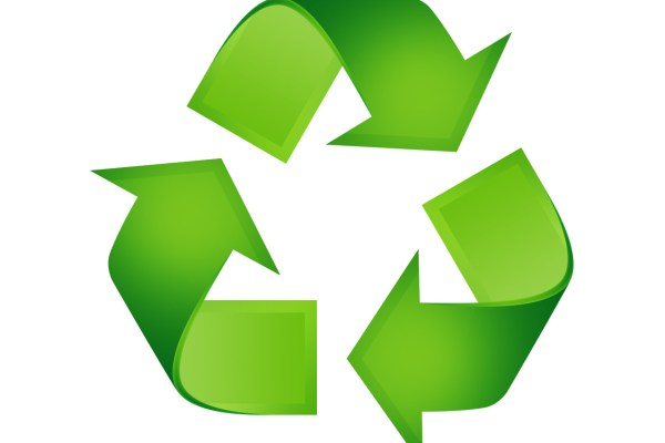 Geri dönüşüm simge sembol yeşil