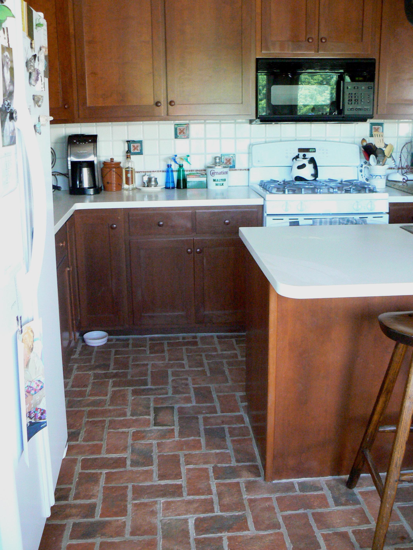 Brick Flooring Kitchen