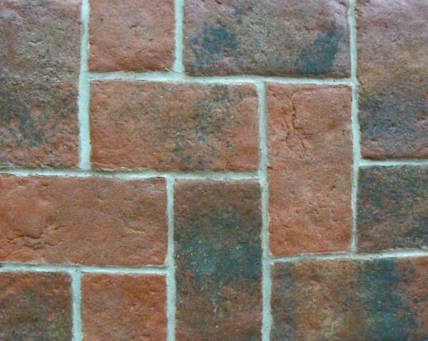 Red Brick Look Floor Tile