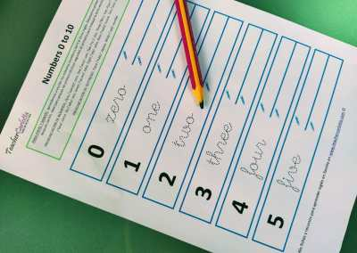 Números del 0 al 10: Repasa y Escribe