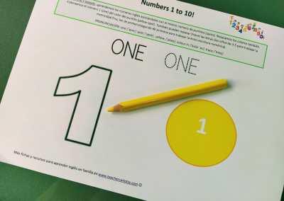 Números 1 al 10: cuenta, colorea y repasa