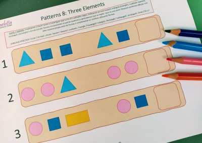 Series VIII: formas (3 elementos)