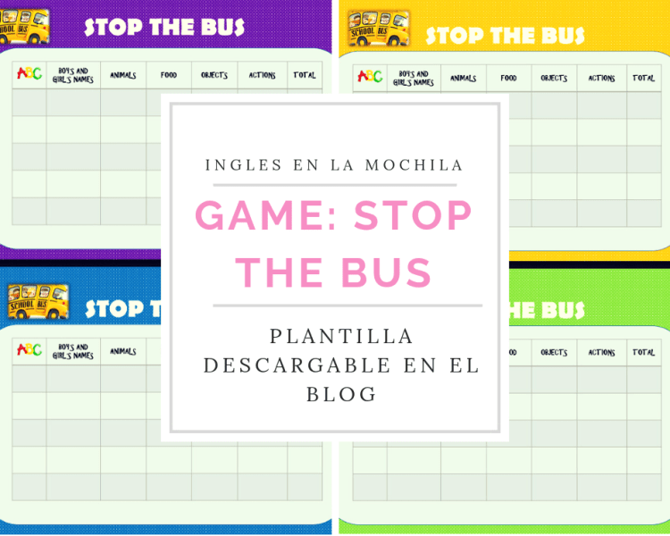 Plantilla descargable:: STOP THE BUS