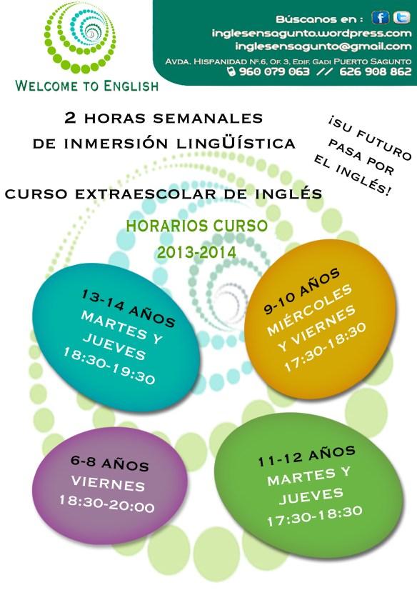 Inglés para niños en la Academia de Inglés en Puerto Sagunto WELCOME TO ENGLISH