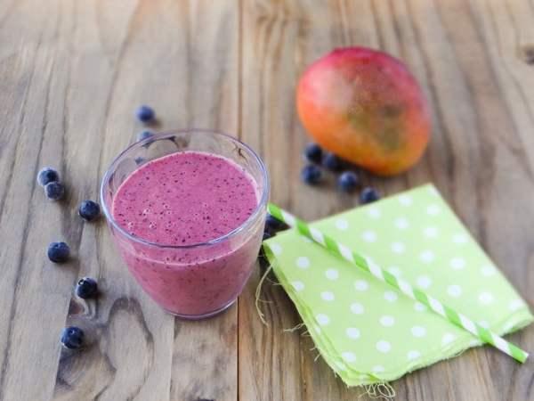 Receita de Blueberry Mango Smoothie | Inglês Gourmet