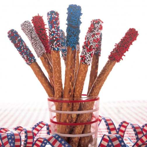 Hard Pretzel Sticks especiais para o 4th of July