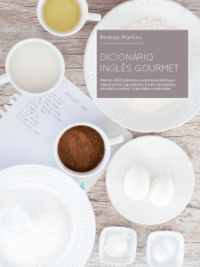 Lançamento do novo eBook: Dicionário Inglês Gourmet