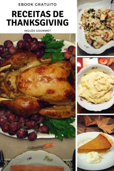 Ebook gratuito com Receitas de Thanksging - Ação de Graças | Inglês Gourmet