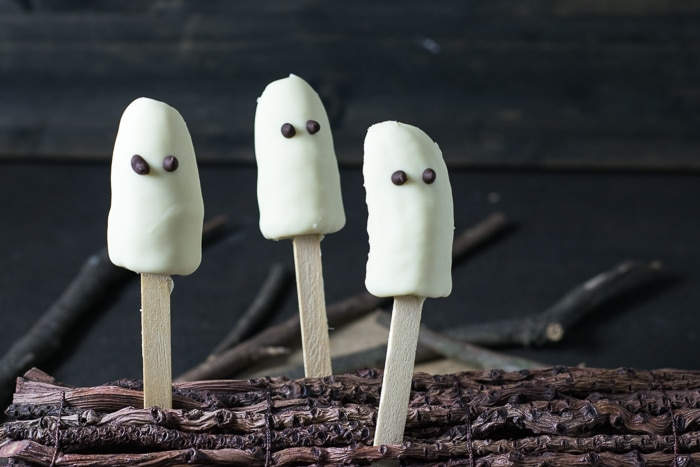 Receita de Halloween: Fantasma de Banana {Banana Ghost} | Inglês Gourmet