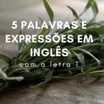 """5 Palavras e Expressões em Inglês com a Letra """"T"""""""