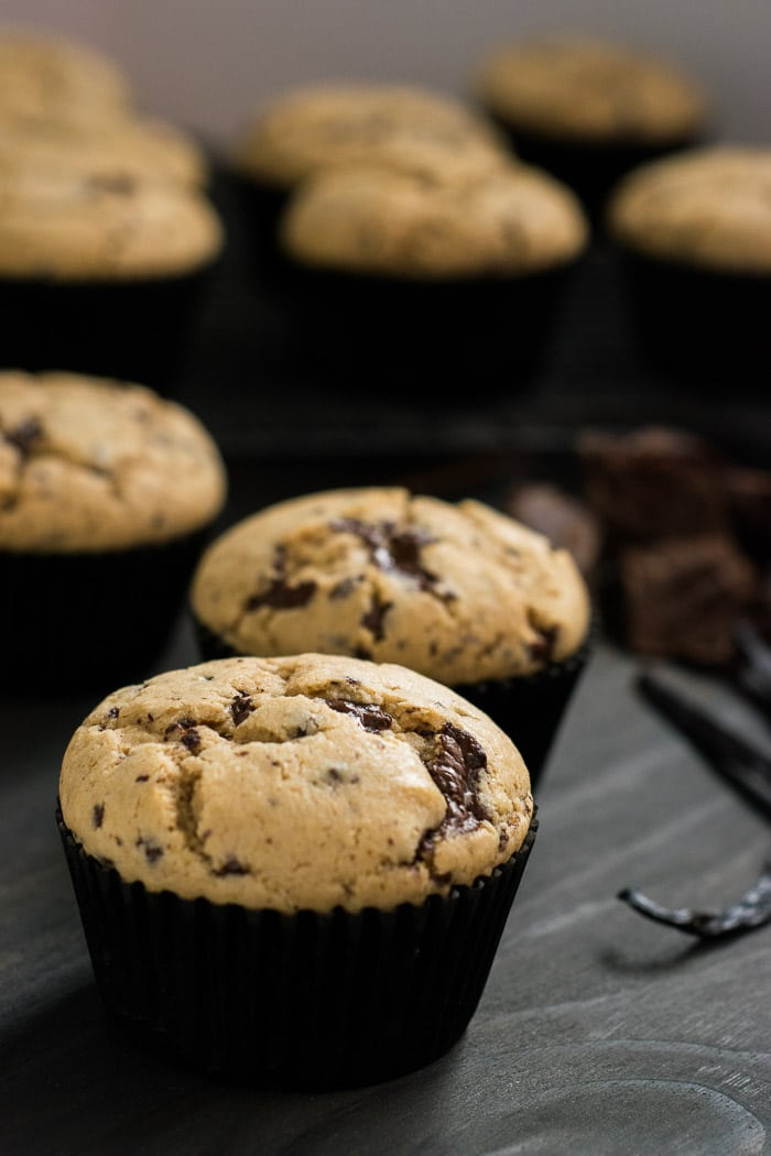 Muffins com pedaços de chocolate | Inglês Gourmet